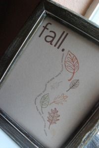 Fall Word Art