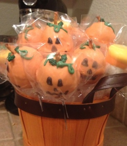 Cake pops and marshmallow candy corn
