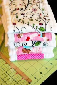 Dressed up burp cloths make a great gift.