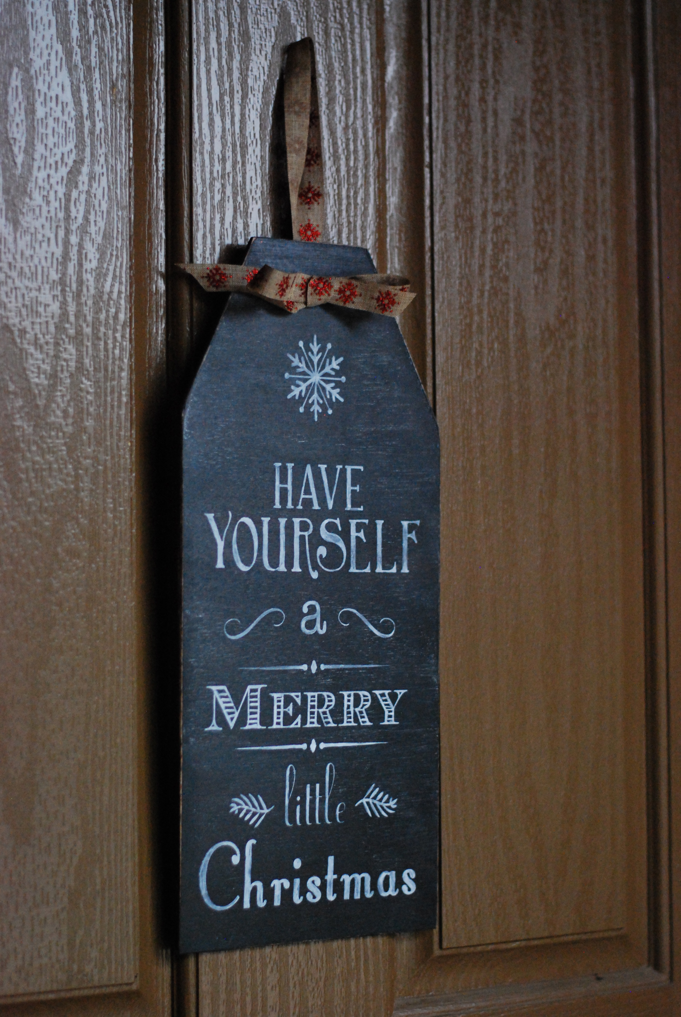 Have Yourself A Merry Little Christmas Chalkboard Sign DSC 0185 So I Brought Those Signs To The Party As My 5 Favorite Thing Friend Had Originally